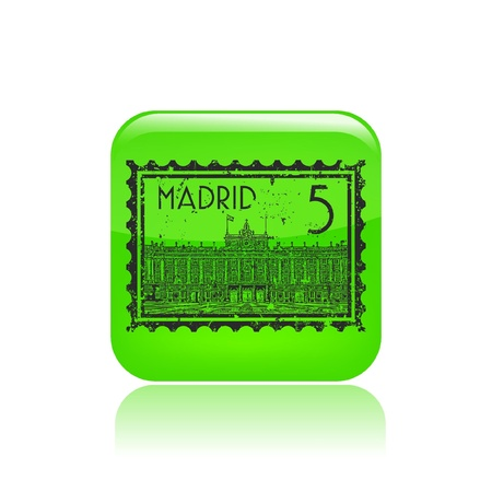 madrid: Vector illustration of single isolated Madrid icon