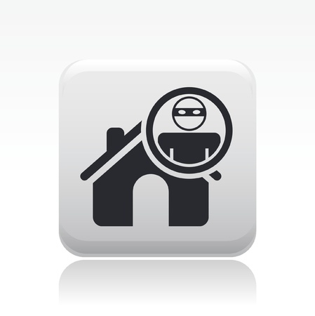 Vector illustration of single isolated home thief icon Stock Vector - 12127914