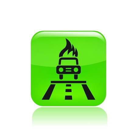 car bills: Vector illustration of single isolated fire car icon