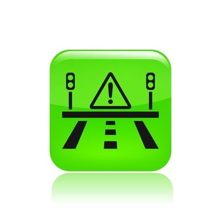 Vector illustration of single isolated road danger icon Illustration