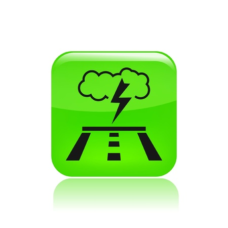 meteorological: Vector illustration of single isolated road storm icon