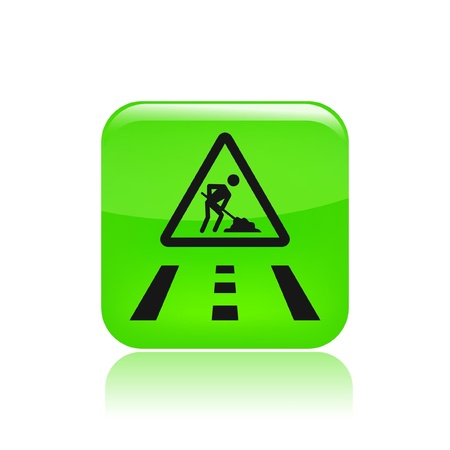 Vector illustration of single isolated road work in progress icon Vector