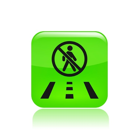 Vector illustration of single isolated road icon Vector