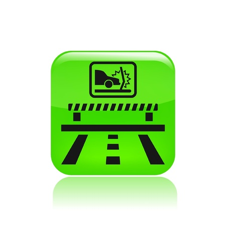 deviation: Vector illustration of single isolated road icon