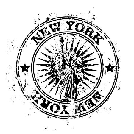 Vektor illustration av enstaka isolerade New York ikon stämpel