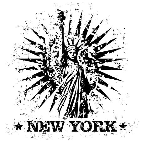 Vector illustration de isolé de New York icône timbre Banque d'images - 12129650