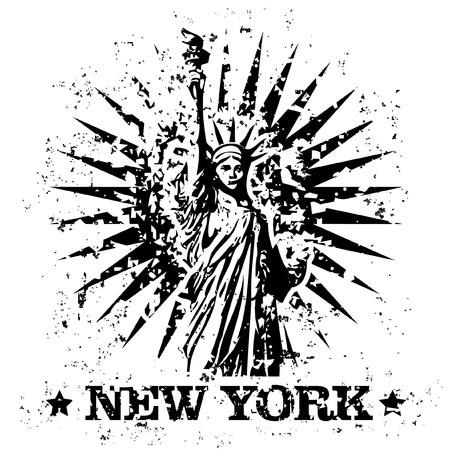 Vector illustration of single isolated New York stamp icon Illustration