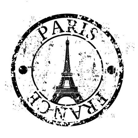 Ilustración vectorial de un solo icono aislado de París