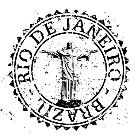 Vector illustration of single isolated Rio de Janeiro stamp icon