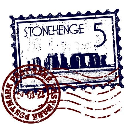 stonehenge: Vector illustration of single isolated Stonehenge icon Illustration