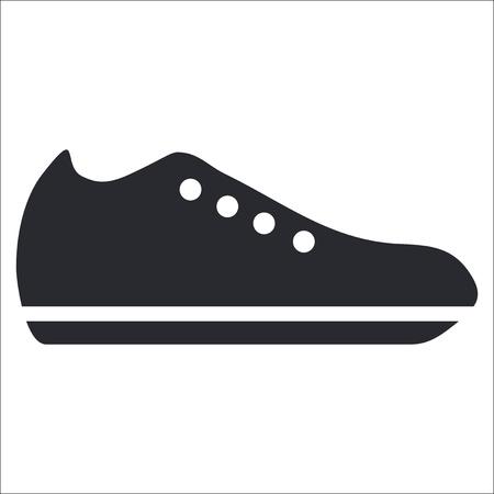 zapato: Ilustraci�n vectorial de un solo �cono de calzado aislado