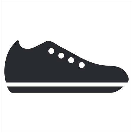 shoe: Vector illustration of single isolated shoe icon
