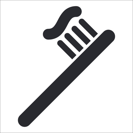 Vector illustration of single isolated toothpaste icon