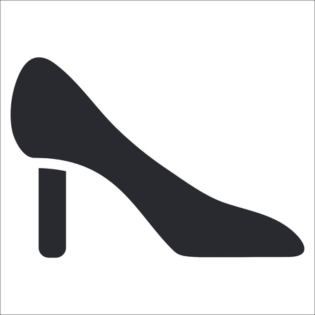 Vector illustration of single isolated shoe icon Vector