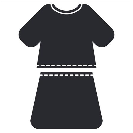 miniskirt: Vector illustration of single isolated dress icon