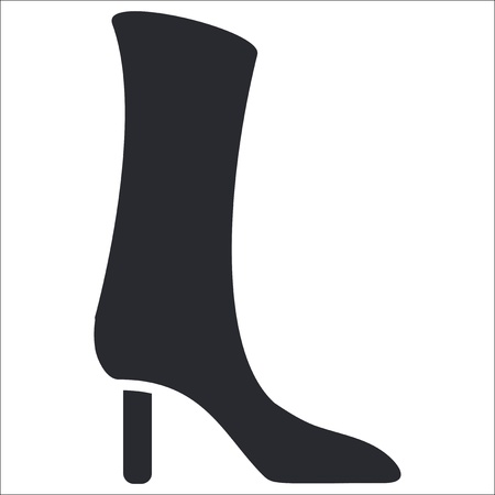 Vector illustration of single isolated boot icon Vector