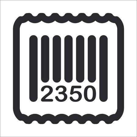 Vector illustration d'icône de code barres unique isolé Banque d'images - 12129649