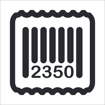 Vector illustration of single isolated barcode icon Stock Vector - 12129649