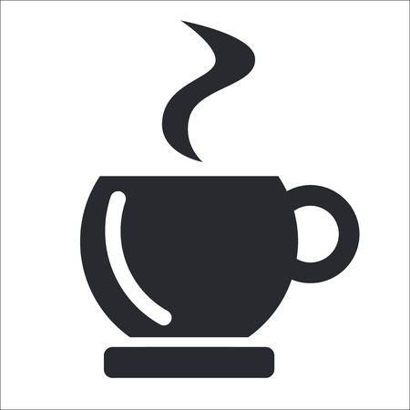 Vector illustration of single isolated coffee icon Vettoriali
