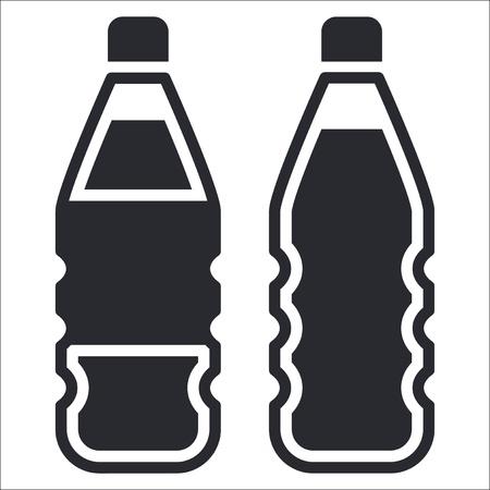 Vector illustration of single isolated bottle icon