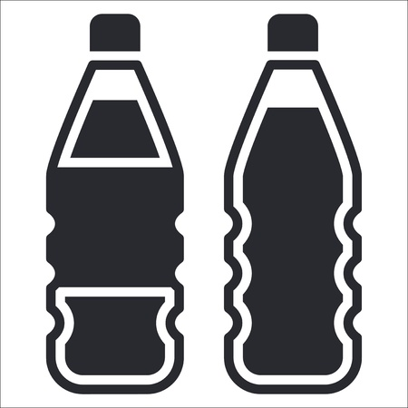 drink bottle: Vector illustration of single isolated bottle icon