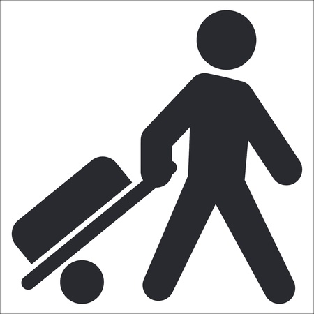Vector illustration of single isolated trolley icon