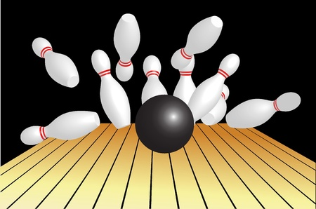 concentration: Vector illustration of bowling abstract background