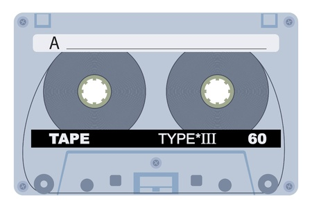magnetization: Vector illustration of single 80 isolated tape design Illustration