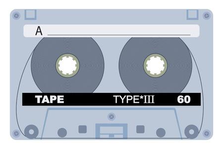 magnetization: Vector illustration of single 80 isolated tape design Illustration