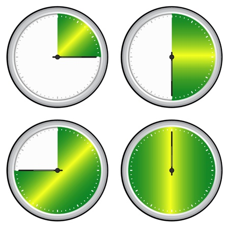 mesure: Vector illustration of single isolated time steps icon