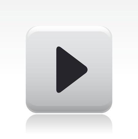 knop: Vector illustratie van enkele geïsoleerde pictogram voor afspelen Stock Illustratie