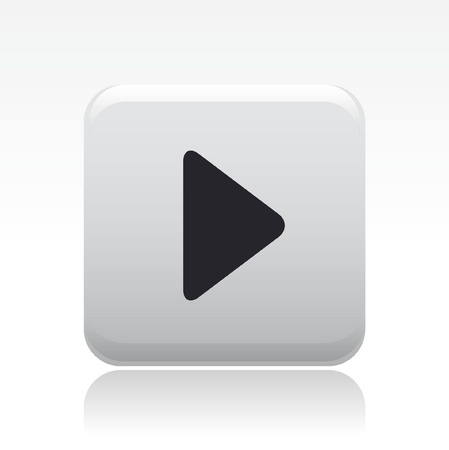 knopf: Vector Illustration der einzelnen isolierten Play-Symbol