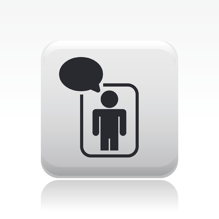 socialnetwork: Vector illustration of single isolated chat icon