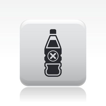 Vector illustration of single isolated danger bottle icon Stock Vector - 12126818