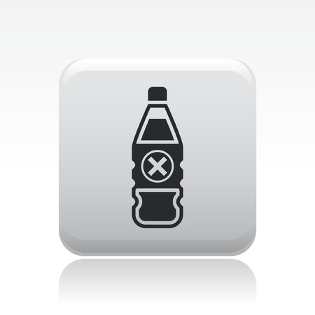 Vector illustration of single isolated danger bottle icon Stock Vector - 12126818