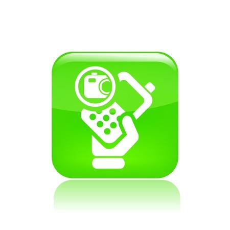 Vector illustration of single isolated photo phone icon