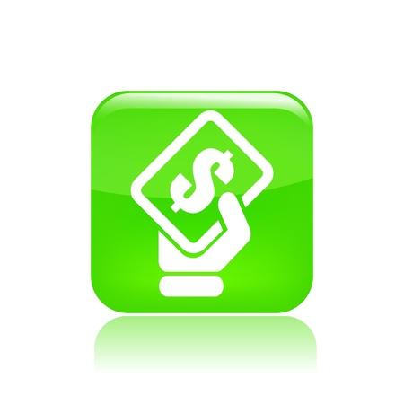 Vector illustratie van enkele geïsoleerde betaling pictogram Vector Illustratie