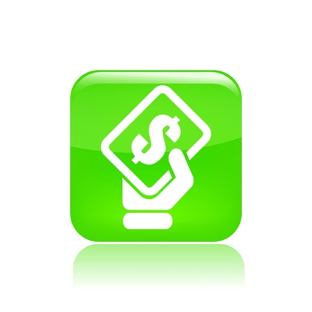 cash icon: Vector illustration of single isolated payment icon Illustration