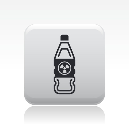 Vector illustration of single isolated danger bottle icon Stock Vector - 12127101