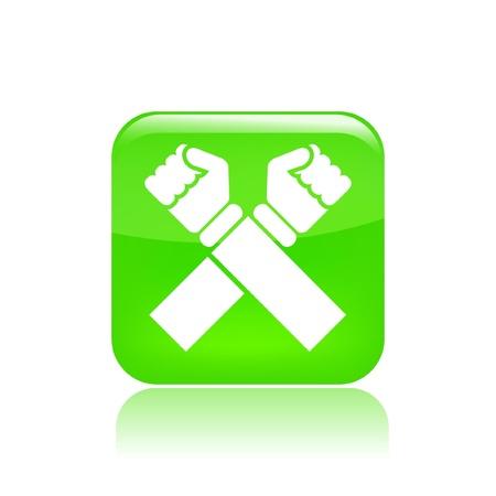 denial: Vector illustration of single isolated cross icon