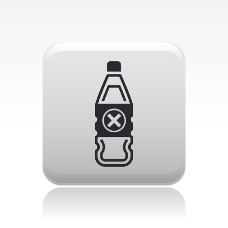 Vector illustration of single isolated danger bottle icon Stock Vector - 12127095