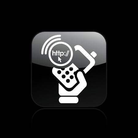 http: Vector Illustration der einzelnen isolierten Telefon HTTP-Symbol