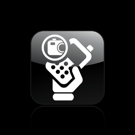 Vector illustration of single isolated camera phone icon Stock Vector - 12129029