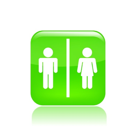 Vector illustration of single isolated wc icon
