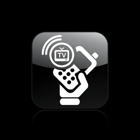 satellite navigation: Ilustraci�n vectorial de un solo icono aislado TV tel�fono