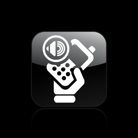 cellulare: Vector illustration of single isolated audio phone icon