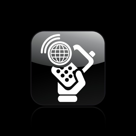 cellulare: Vector illustration of single isolated web phone icon Illustration