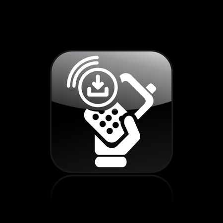 cellulare: Vector illustration of single isolated download phone icon