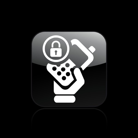 personal profile: Vector illustration of single isolated phone lock icon