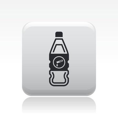 Vector illustration of single isolated dangerous bottle icon Stock Vector - 12127109